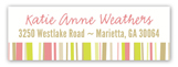 Abstract Stripes Address Label