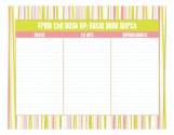 Abstract Stripes Daily Calendar Pad