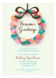 Abstract Wreath Invitation