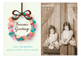 Abstract Wreath Photo Card