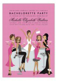 African American Bachelorette Bar Invitation