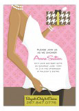 African American Pink Belly Baby Shower Invitation