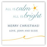All is Bright Square Sticker