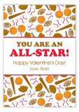All Star Valentine Card