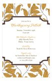 Amber Wood Fern Invitation