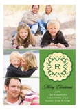 Applique Monogram Green Photo Card