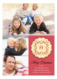 Applique Monogram Red Photo Card