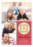 Applique Monogram Red Photo Card