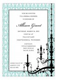 Aqua Hanging Chandelier Invitation