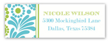 Aqua Lime Garden Address Label