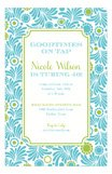 Aqua Lime Garden Invitation