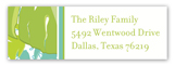 Aqua Lime Palms Address Label