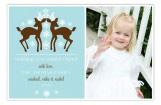 Aqua Reindeer Card