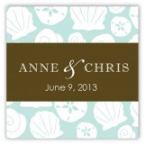 Aqua Sea Treasures Square Sticker