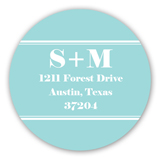 Aqua She Said Yes Round Sticker