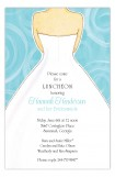 Aqua Swirls Wedding Dress Invitation