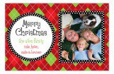Argyle and Polka Dots Photo Card