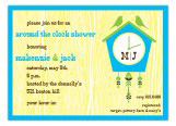Around the Clock Bird House Bridal Shower Invites
