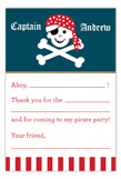 Arrr Matey Pirate Party Flat Note Card