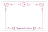 Art Nouveau Pink Flat Note Card