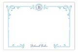 Art Nouveau Turquoise Flat Note Card