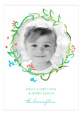 Artistic Christmas Photo Card