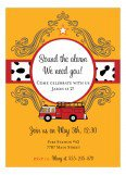 At The Firehouse Kids Birthday Invitations