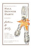 Autumn Cutlery Invitation