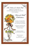 Autumnal Fall Topiary Invitation