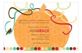 Autumn Orange Pumpkin Invitation