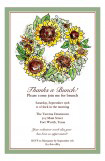 Autumnal Sun Flower Invitation