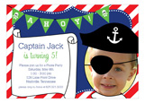 Aye Matey! Captain Photo Invitation