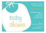 Blue Baby Bib Invitation