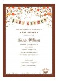 Baby Bird Fall Invitation