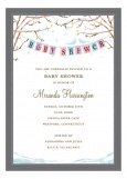 Baby Bird Winter Invitation