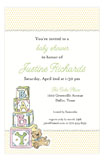 Baby Blocks Invitation