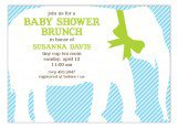 Baby Blue Elephant Invitation