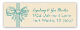 Baby Boy Bow Address Label
