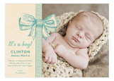 Baby Boy Bow Photo Card