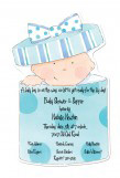 Baby Boy Die-cut Invitation