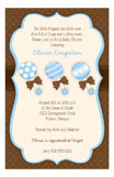 Baby Boy Rattles Invitation