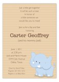 Baby Elephant Invitation