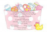 Baby Girl Basket Die-cut Invitation