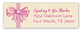 Baby Girl Bow Address Label