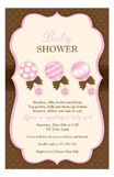 Baby Girl Rattles Invitation