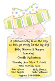Baby in Box Die-cut Invitation