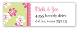 Baby Jungle Pink Address Label