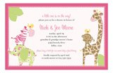 Baby Jungle Pink Invitation