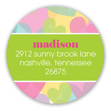 Baby Love Girl Baby Shower Round Sticker
