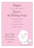 Baby Poodle Invitation